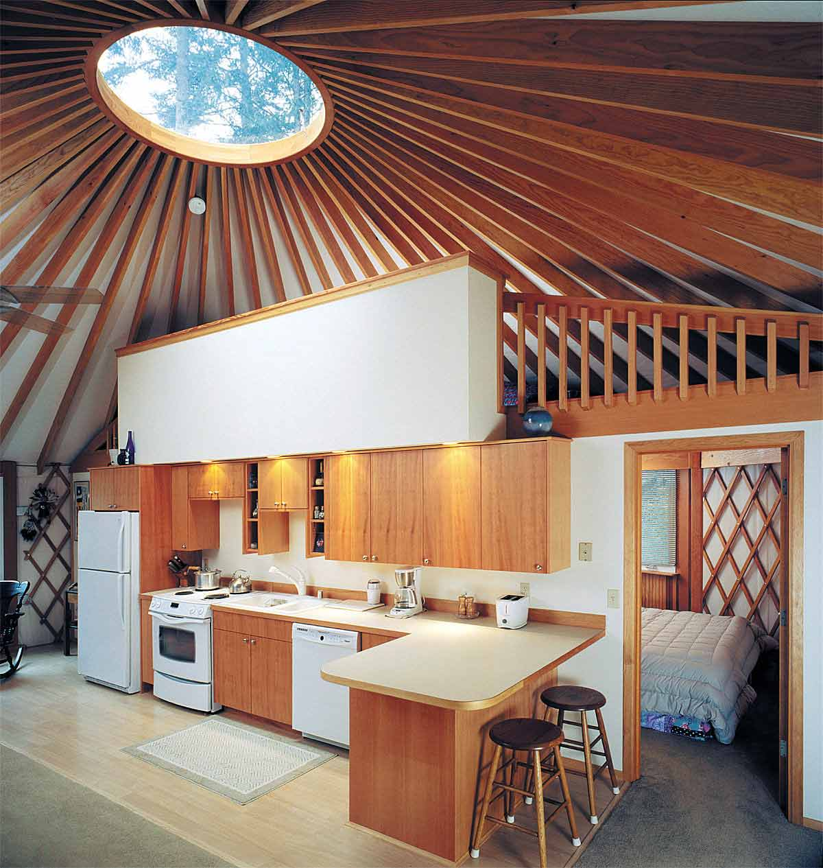 Rue de emily yes to yurts for Yurt interior designs