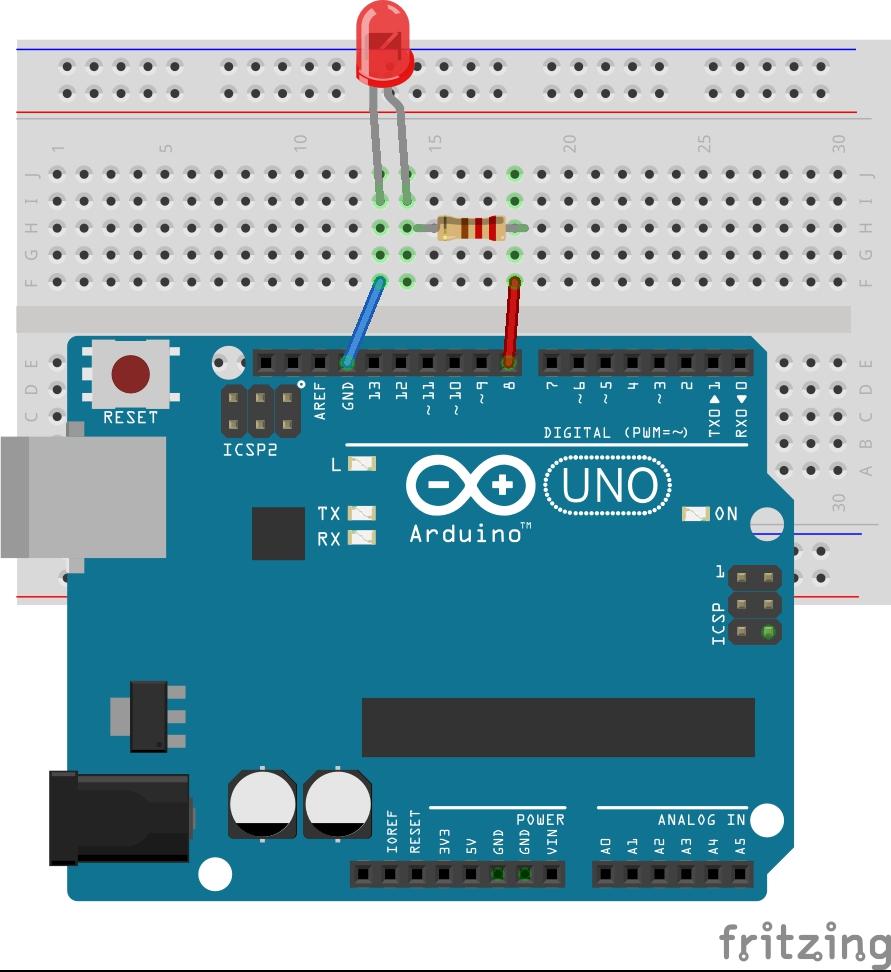 Circuito Arduino : Seba electronic labs arduino encender apagar un led con