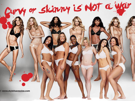 It is NOT okay to hate on skinny women (the curvy vs skinny wars)