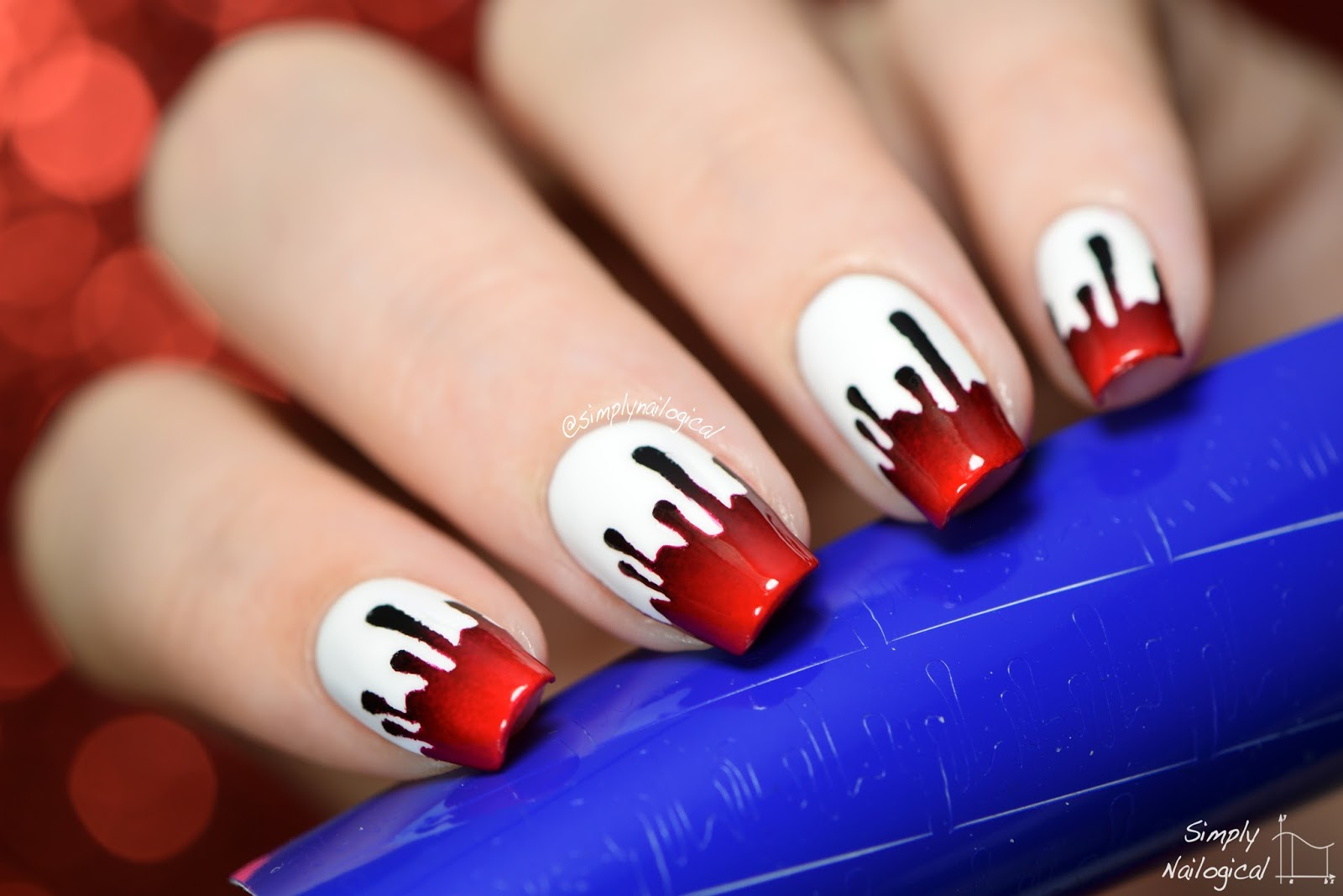 Simply nailogical taylor swift bad blood nails paint drip vinyls from twinkled t use my code simply for 10 off prinsesfo Choice Image