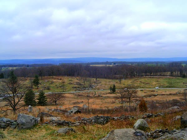 Gettysburg Battlefield - haunted place ranked 7th