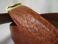 thắt lưng da cá sấu l42