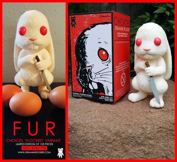 """Fur"" Flocked Edition Choices Vinyl Figure by Jermaine Rogers.jpg"