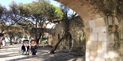 Casal Geek Eurotour 2013 - Descobrindo Lisboa - Castelo de São Jorge