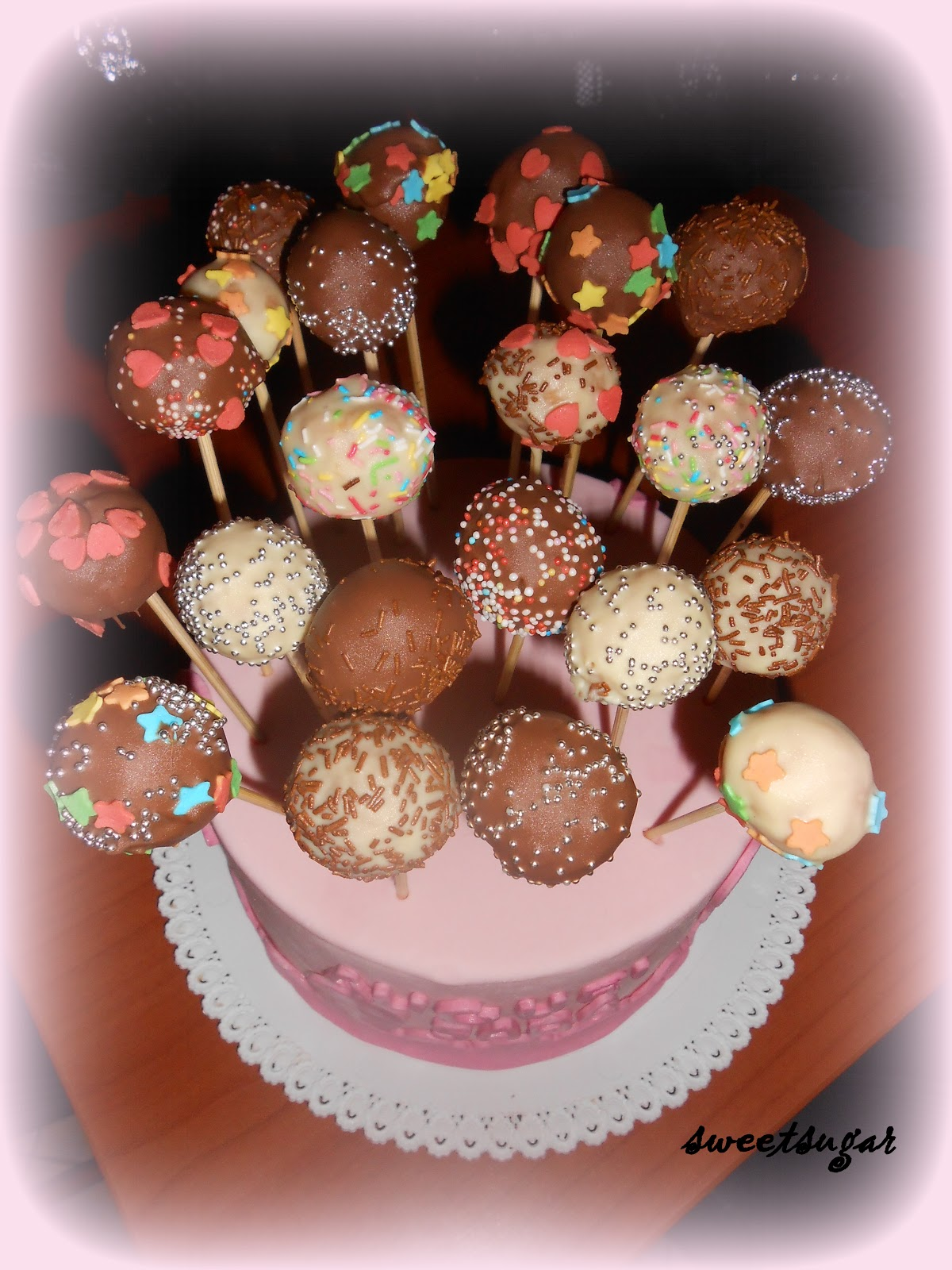 Super Sweetsugar: FOTO RICETTA: CAKE POPS NR15