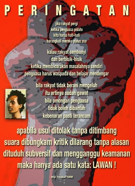 Gambar Puisi Widji Tukul