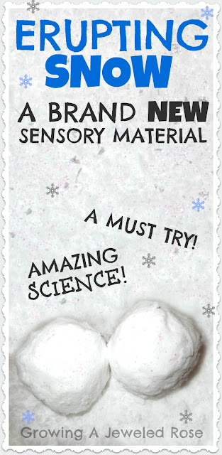 AMAZING snow play recipe- only two ingredients, naturally cold snow