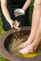 masaje de pies y manos