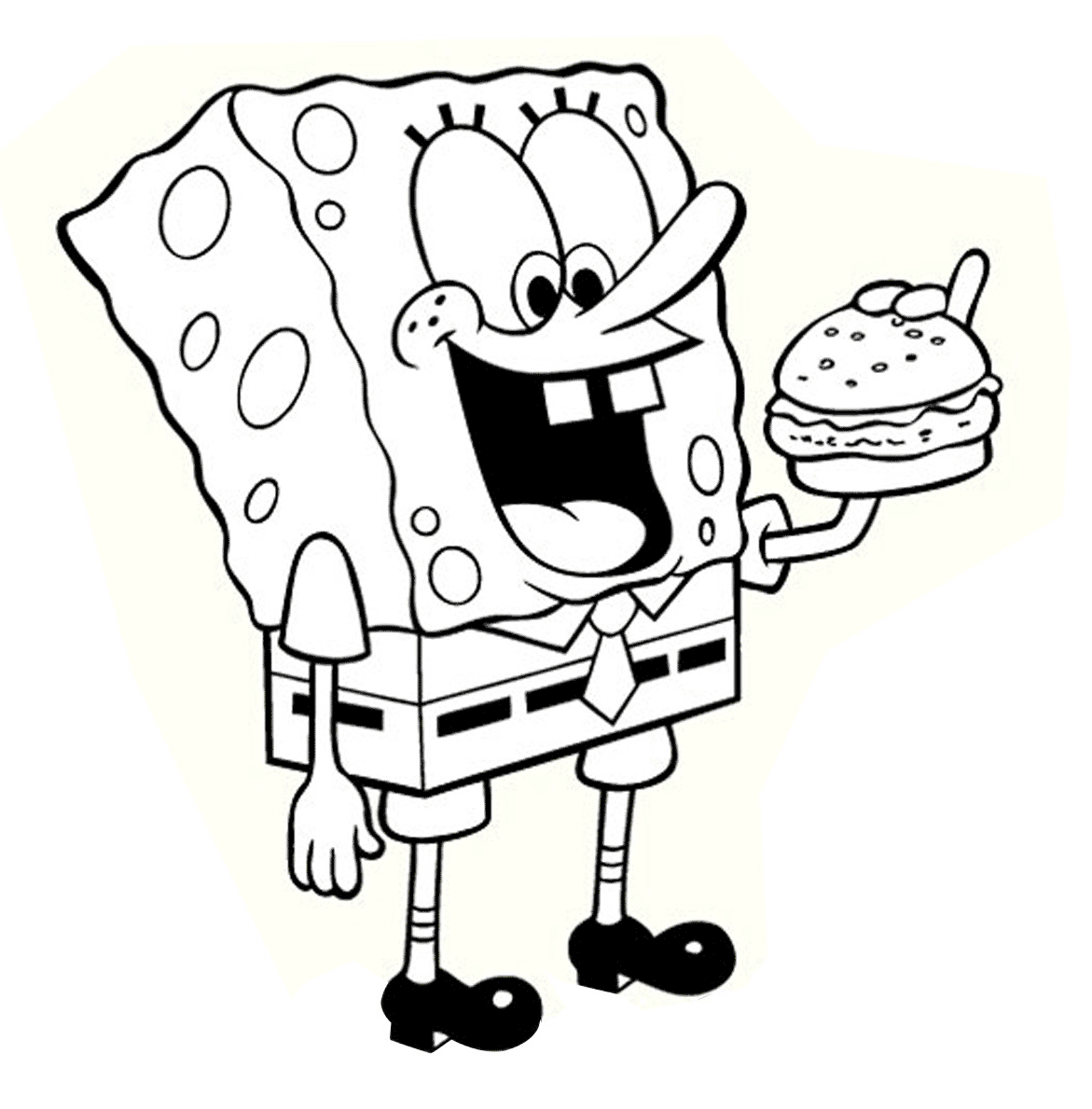 Gambar Mewarnai Spongebob Gambar Mewarnai Lucu