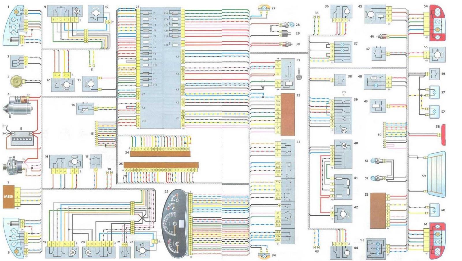 схема электроподъемников калина