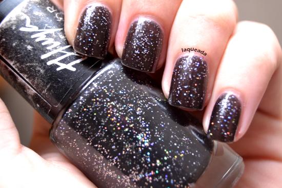 esmalte thuya negro glitter