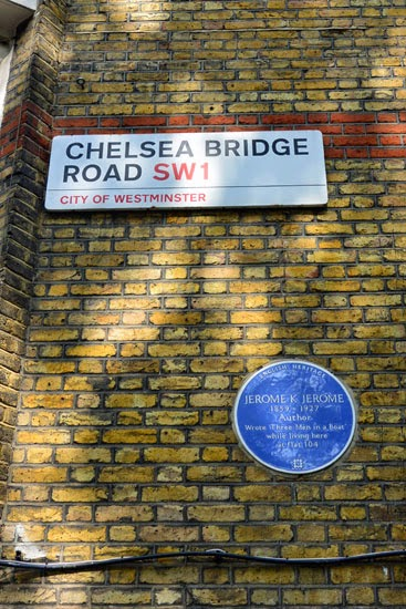 Jerome K. Jerome residence Chelsea Bridge Road