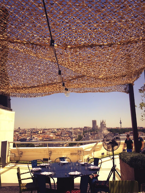 Tartan roof Restaurant at Circulo de Bellas Artes