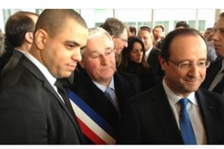 Avec le Président de la République, François Hollande