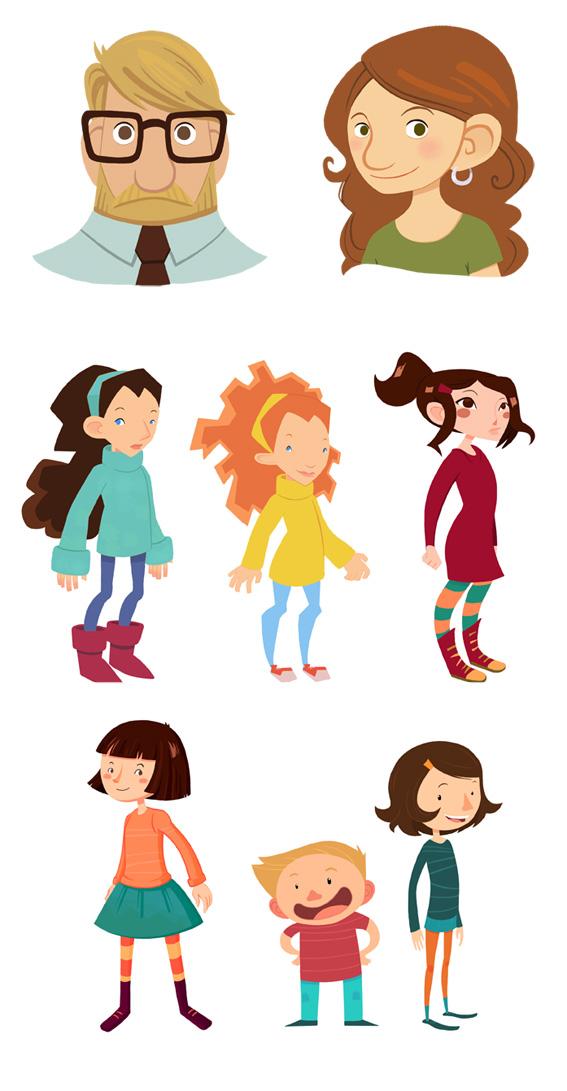 Disseny de personatge per diferents projectes d'il·lustració i animació