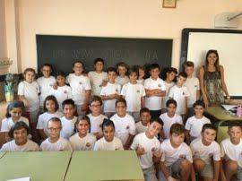 Los alumnos de la clase de 4º A
