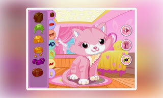 Screenshots of the Pink Kitten Dressup for Android tablet, phone.