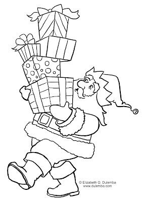 Lindos desenhos de natal com o papai noel