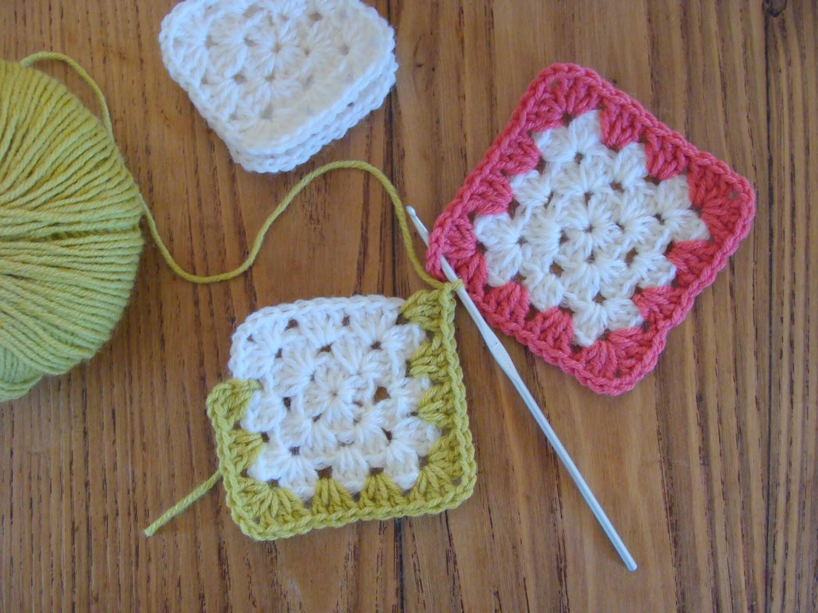 Piastrelle uncinetto per coperte: piastrella semplice all uncinetto