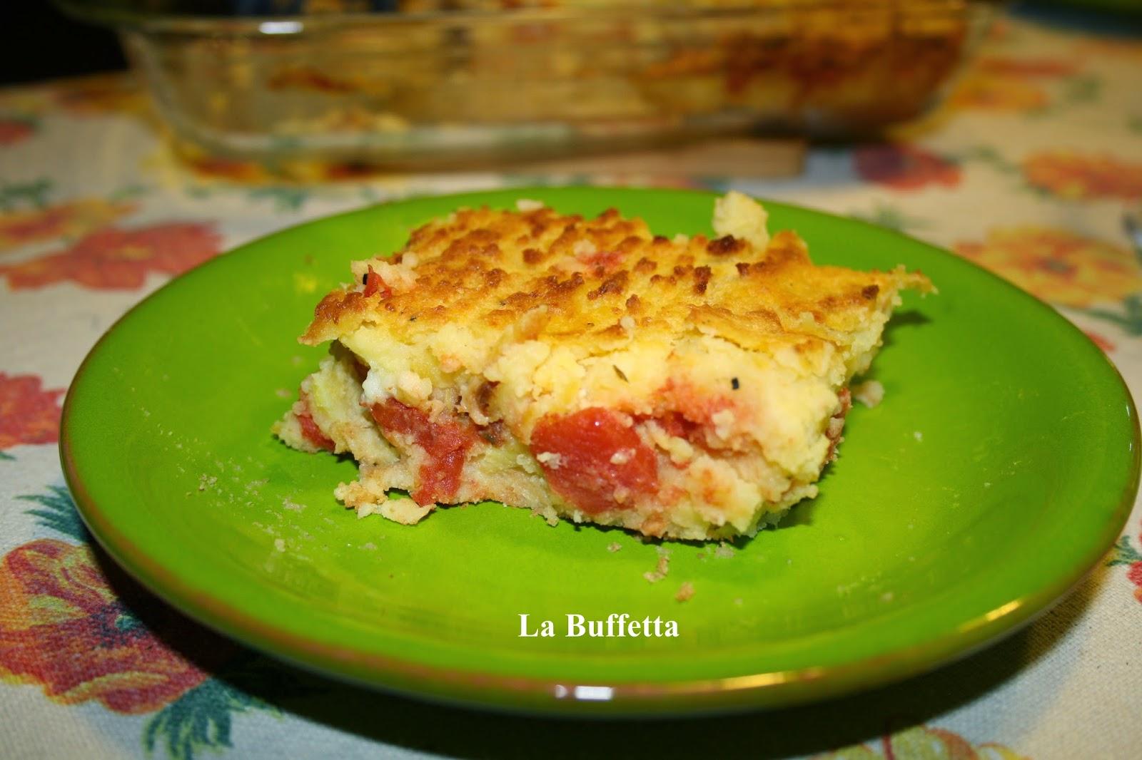 pitta di patate al pomodoro