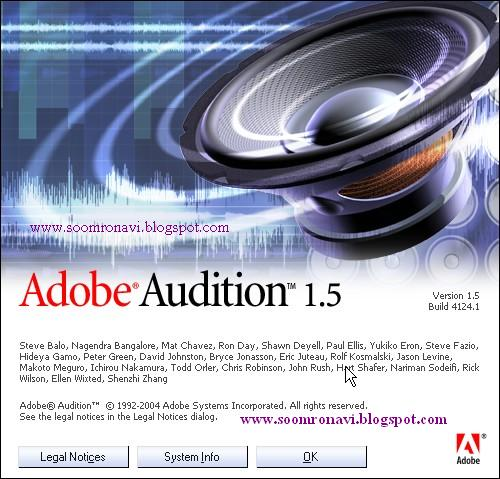 Adobe Audition 1.5 Full Free Download - Free software download, crack software, full version ...
