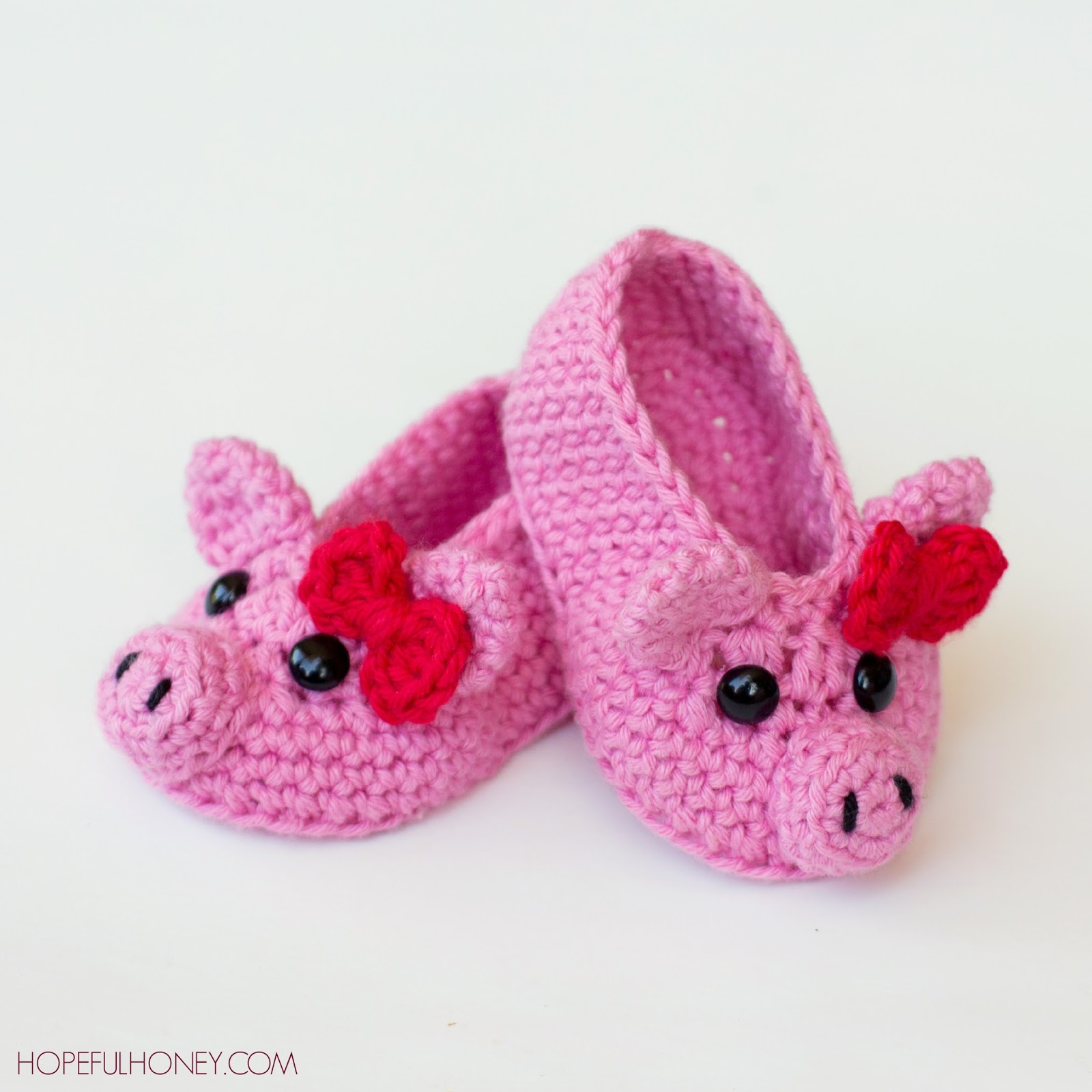 Free Crochet Baby Pig Hat Pattern : Hopeful Honey Craft, Crochet, Create: Pink Piggy Baby ...