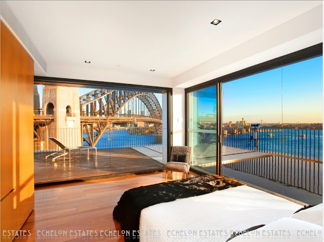 Picture of the bridge as seen from the bedroom