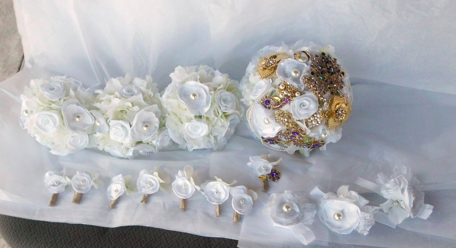 Have it all fabric flower bridal bouquets for handmade weddings you can also view a wider variety of fabric flower bouquets in my shop here izmirmasajfo