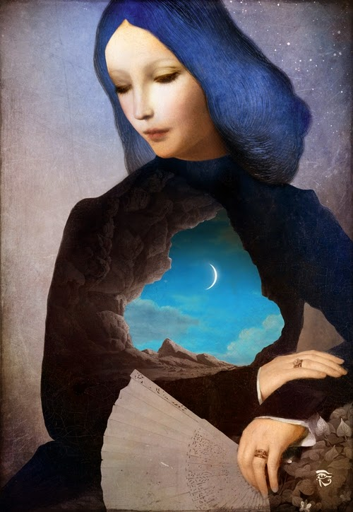 23-Lady-Midnight-Christian-Schloevery-Surreal-Paintings-Balance-of-Mind-and-Heart-www-designstack-co