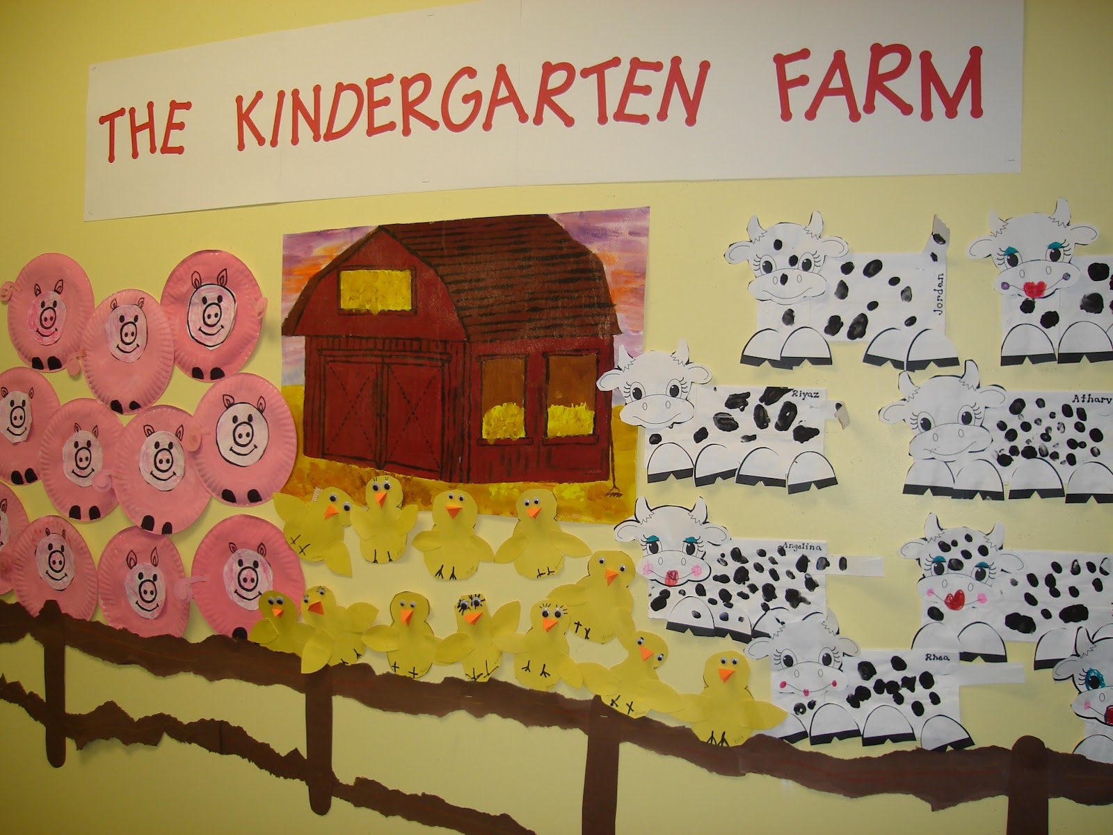 Kindergarten Farm Bulletin Board Ideas