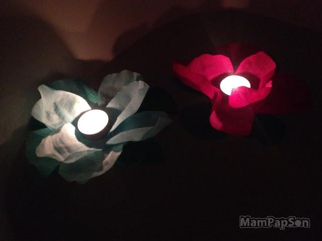 плавающие фонарики в ванной
