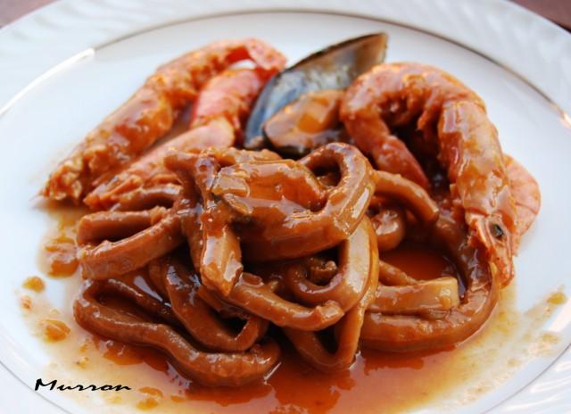 Cocinar Calamares En Salsa | Murron Cocina Calamares En Salsa Con Gambas Y Mejillones