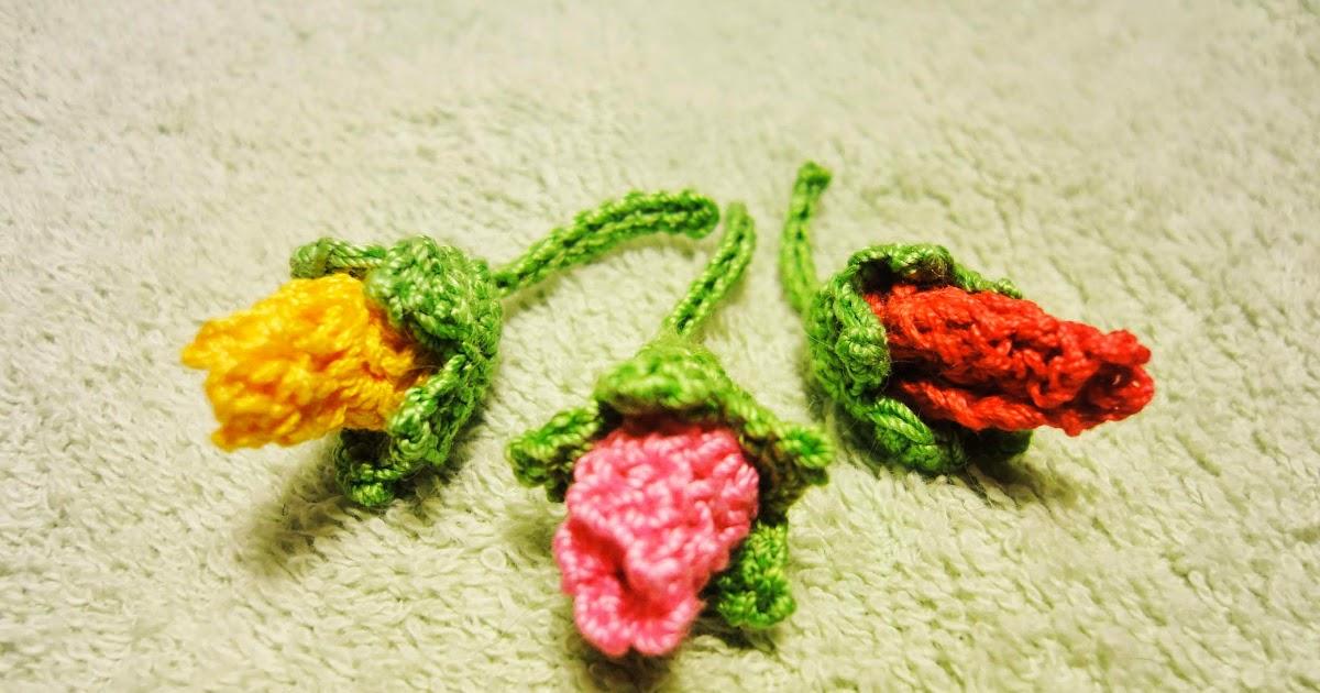 вязание бутон розы