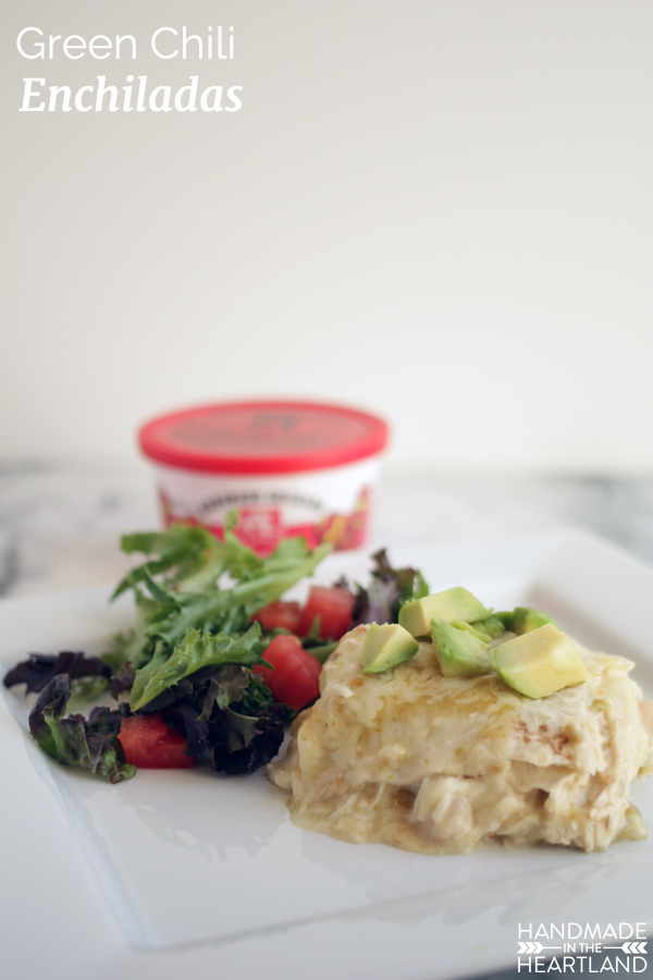 Green Chili Enchiladas with #AEDairy