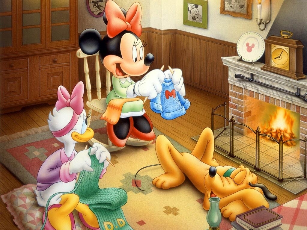 Miney Mouse, Daisy Duck and Pluto || Top Wallpapers Download .blogspot.com