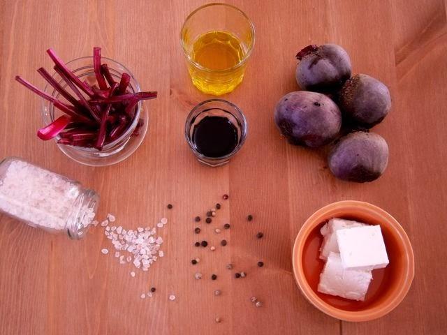Παντζάρια Σαλάτα με φέτα Υλικά