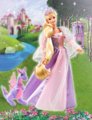 beautiful barbie rapunzel
