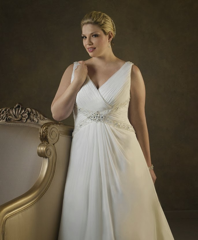 Big large bust wedding dresses bridal gowns for Wedding dress big size