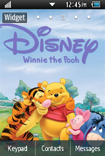 Anime Winnie the Pooh Samsung Corby 2 Theme Wallpaper