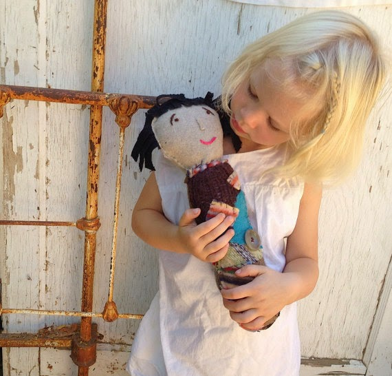 shabby spring twiggy doll