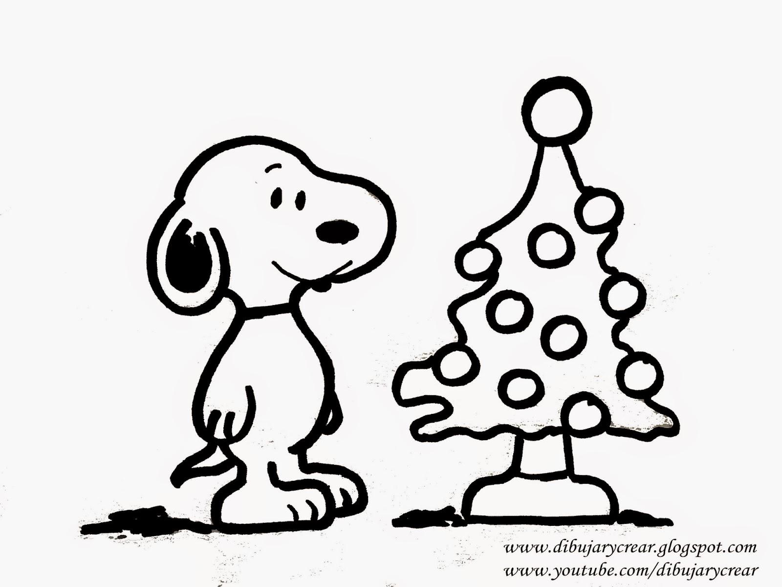 snoopy con arbol de navidad