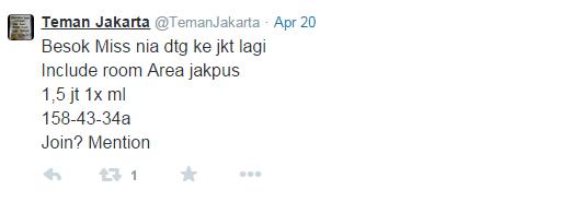 Ini Dia Akun Twitter Prostitusi yang Baru-baru Ini Diberantas Polda Metro Jaya