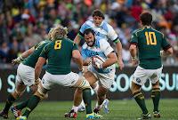 Juan Figallo penetra la defensa sudafricana