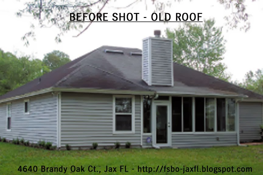 4640 Brandy Oak Court Old Roof - Back