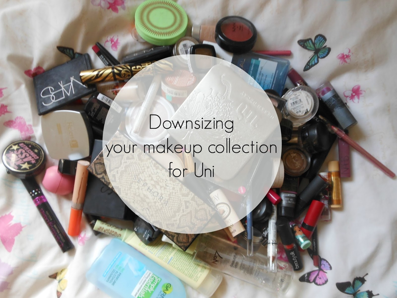 dippywrites downsizing your makeup collection for uni
