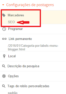 Menu por Categoria no Blogger