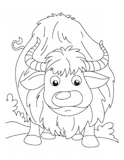 Small Folk Big Shock Given To Yak Coloring Pages