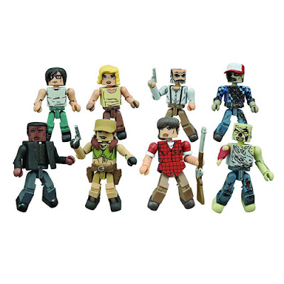 The Walking Dead Minimates Series 8 Mini Figures by Diamond Select Toys - Carl, Sophia, Rosita, Father Gabriel, Hilltop Leader Gregory, Zombie, Hilltop Leader Maggie & Forest Zombie