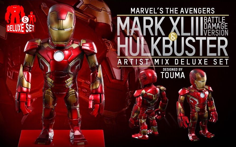 Marvel's Avengers Age of Ultron Artist Mix Figures Series 1 by Touma & Hot Toys - Battle Damaged Edition Iron Man Mark XLIII