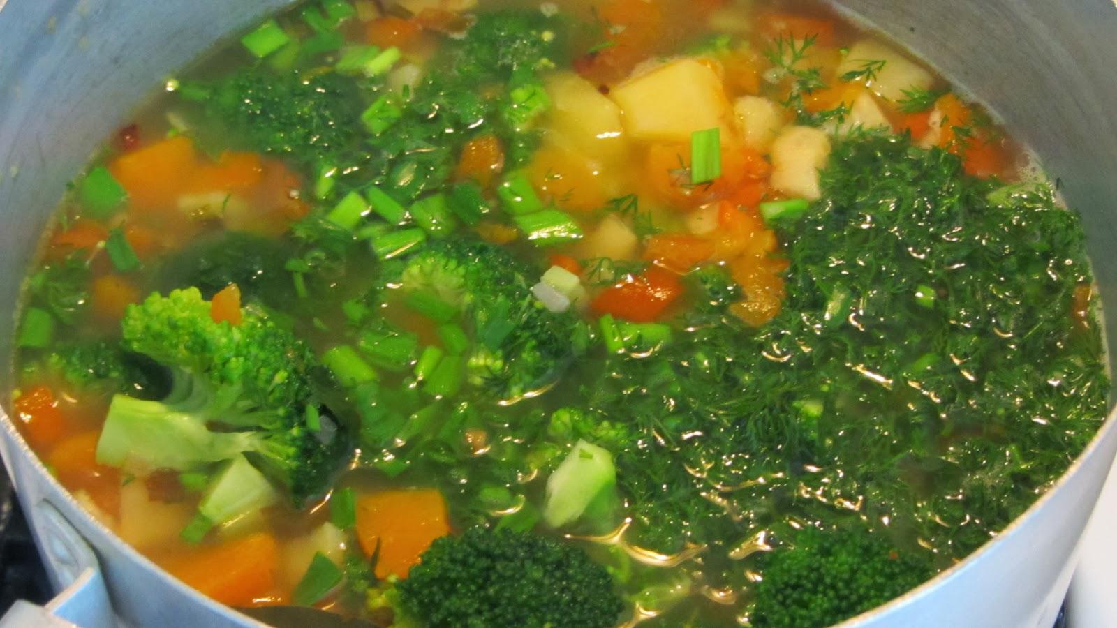 суп из брокколи готов